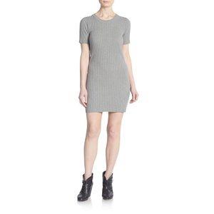 For Love & Lemons Ribbed Knit Short Sleeve Dress